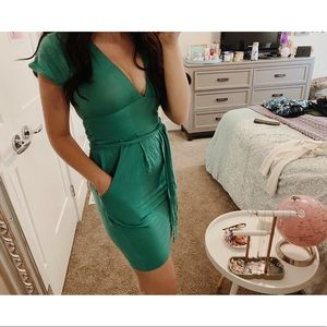 NEW Wilfred / Aritzia 🌸 Teal Summer Dress w/ Tie